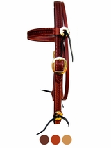 Billy Cook Waffle Stamp w/Brass Browband Headstall 11-761