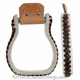 Billy Cook Rawhide Covered Oxbow Stirrups bi15-343