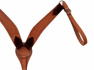 Billy Cook Roping Breast Strap Star Tooling w/Nickel Hardware 12-726