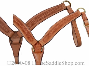 Billy Cook Running W Breast Strap w/Brass Hardware 12-916
