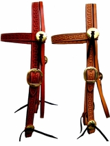 Billy Cook Running W Browband Headstall w/Brass Hardware 11-747