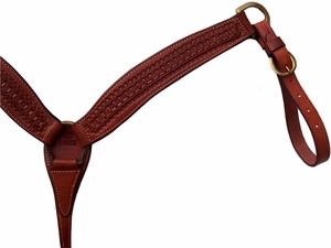 Billy Cook Waffle Stamped Breast Strap 12-979