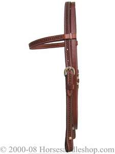 Billy Cook Waffle Tooled Browband Headstall 11-798