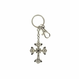 Black and Crystal Cross Key Ring 3031601