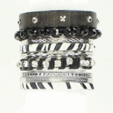Black and White Bangle Set 29887