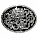 Black Background with Silver Floral C11162 by Crumrine
