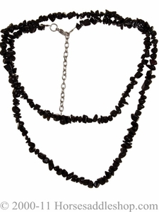 Black Western Necklace with Black Stones 29338