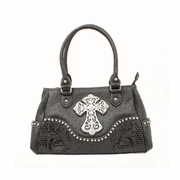 Blazin Roxx Black Ostrich Purse with Zebra Cross and Crystals N7526801