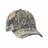 Blazin Roxx Mossy Oak Camo with Crystal Cross Hat 15872222