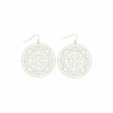 Blazin Roxx White Disc Earrings 30348