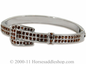 Bracelet with Topaz Belt Buckle by Montana Silversmiths 60832TZ