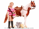 Breyer Eva, Saddle Up Classics Doll & Horse Set 61045