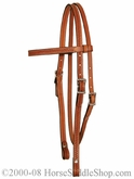 Browband Basketweave Headstall by Circle Y y0125-7204