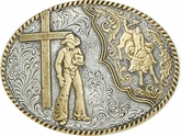 Bullrider and Cross Buckle by Crumrine C15102