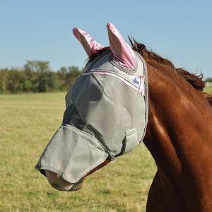 Cashel Crusader Premium Fly Mask Long Nose With Ears CFMLE-PNK