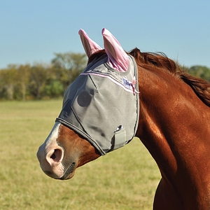 Cashel Crusader Premium Fly Mask Standard With Ears CFMSE-PNK