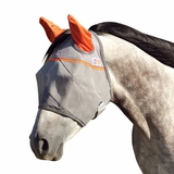 Cashel Crusader Premium Fly Mask Standard With Ears CFMSE-ORA