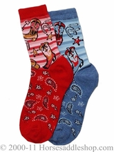 DISCONTINUED Child's Western Boot Socks 89-9900-5-566
