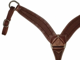 "Circle Y 2 3/4"" Shaped Mini-Basket Tooled Breast Collar 4245-16"