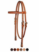 "Circle Y 5/8"" Border Tooled Browband Headstall 0125-45"