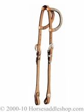"Circle Y 5/8"" Double Ear Show Headstall Silver Ears & Buckle Sets 0265-7007"
