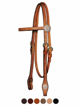 Circle Y Crystal Mosaic Floral Browband Headstall 0224-85