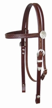 Circle Y Fan and Silver Headstall hs-y010020