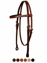 Circle Y Floral Stitched Browband Headstall 0125-80