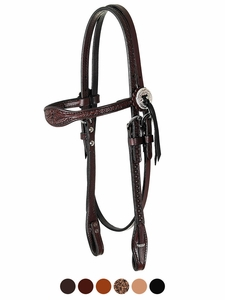 Circle Y Julie Goodnight Diamond Tooled Browband Headstall 0269-12