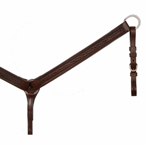 Circle Y Julie Goodnight Diamond Tooled Straight Breast Collar 4280-11
