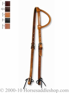 Circle Y Rolled One Ear Headstall 0217-00