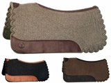 Circle Y Scalloped Square Wool Felt Saddle Pad 60