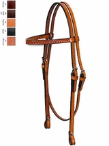 Circle Y Shell Tooled Browband Headstall 125-30