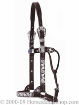 Circle Y Show Halter Black and Silver Filigree Horse Size 0603-1000