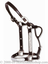Circle Y Show Halter Engraved Silver Horse Size 0619-00