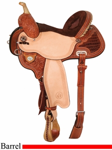 "** SALE **13"" to 17"" Circle Y Kelly Kaminski Studded Croc Flex2 Barrel Racer 1539"
