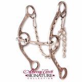 Classic Equine Diamond Long Shank Twisted Wire Dog Bone Bit BBIT2LSG22SS