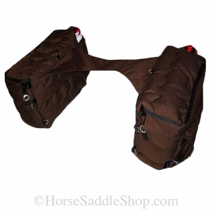 Colored Western Nylon Quilted Saddle Bags with Water  Bottles sb99340MBP
