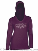 NO LONGER AVAILABLE Country Girl Silver Foil Hoodie Junior Fit