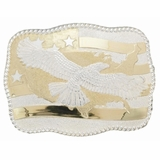 Crumrine American Eagle & Flag Belt Buckle