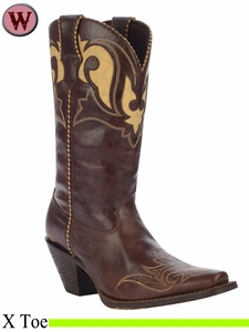 "Crush by Durango Women's 11"" Peek-A-Boot Western Boot RD5523"