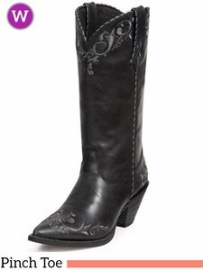 Crush by Durango Women's Black Scroll Western Boot RD3200