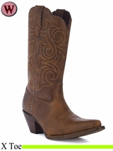 Crush by Durango Women's Scall-Upped Western Boot RD5444