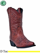 DISCONTINUED Dan Post Kid's Red Sidewinder Boots DPC3135