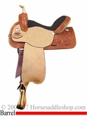 "DISCONTINUED 14.5"" 15"" 15.5"" Berry Barrel Racing Saddle by Reinsman 4200"