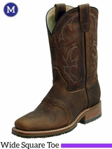 Double-H Mens 11 in. Domestic Wide Square Toe ICE Roper Boots DH3560