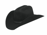 Double S Black Felt Cowboys Hat - Youth - Stretch Fit 7213001