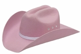Double S Pink Felt Cowgirls Hat - Youth - Stretch Fit 7213030