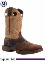 Durango Rebel Men's Saddle Up Brown Square Toe Boots DB4442