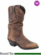 Durango Women's Distressed Tan Slouch Western Boot RD542